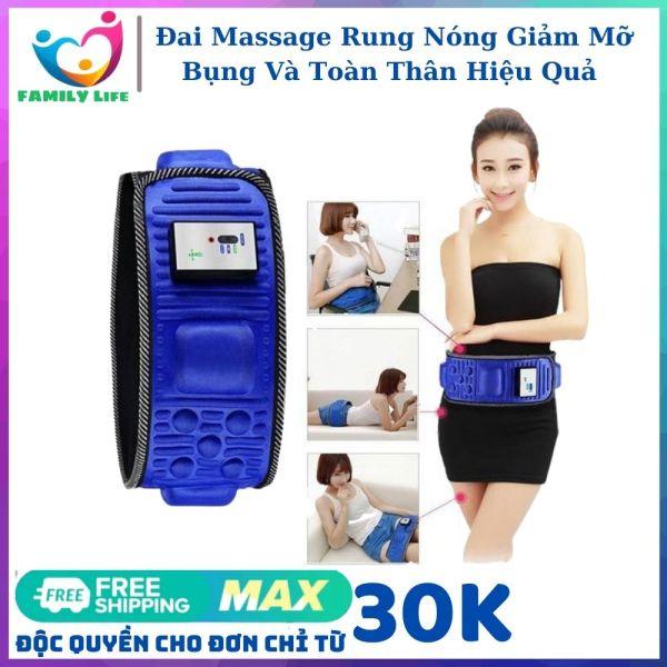 Đai Massage X5 Rung Nóng Giảm Mỡ Bụng Và Toàn Thân Hiệu Quả - Đai Massage Giảm Béo Giảm Mỡ Bụng An Toàn