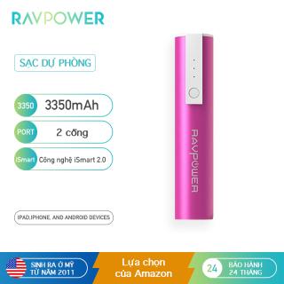 Sạc dự phòng RAVPOWER 3350mAh Công nghệ iSmart 2.0, Nhẹ, Di động, Nhỏ gọn cho Điện thoại Thông minh RP-PB33 thumbnail