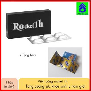 1 hộp 6 viên Rocket 1h hỗ trợ sinh lý nam, tăng cường sinh lực kéo dài thời gian quan hệ cho phái mạnh tặng kèm 3 chiếc Bao cao su Sure có gai nổi cực mỏng, hỗ trợ tình dục nam nữ chất lượng cao [PANSO Store] thumbnail