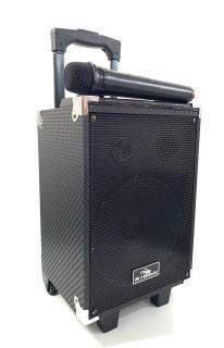 [tặng micro không dây]Loa Karaoke Bluetooth Di Động Vali Kéo Kiomic K108 Thùng Gỗ - Bass 20cm- Phiên bản 2019, bảng mạch màu cam - baotranstore thumbnail