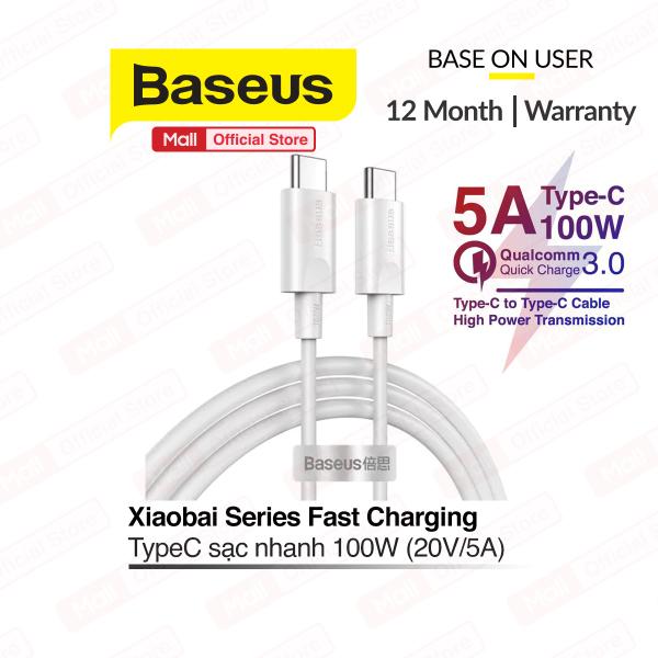 Cáp sạc nhanh siêu bền Baseus Xiaobai Series Type-C 100W (20V/5AType C Quick Charging & Sync Data TPE Cable) dài 15m