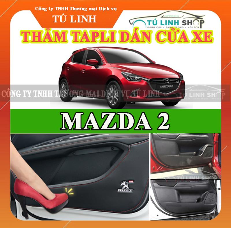 Bộ 4 Thảm Tapli dán cánh cửa chống trầy xước xe MAZDA 2