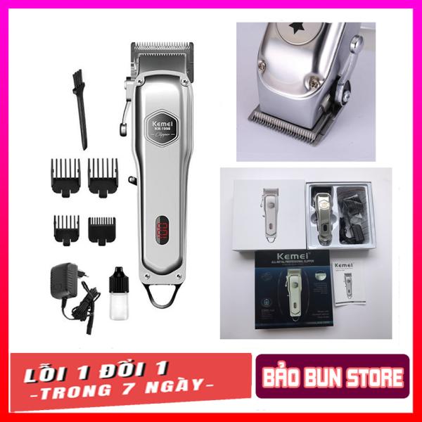 ❄️ Tông đơ cắt tóc thân nhôm nguyên khối kemei 1998,pin lithium 1000mah-hãng phân phối ❄️ giá rẻ