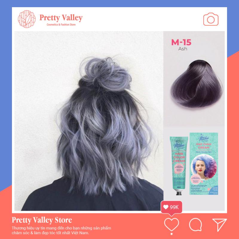 Kem nhuộm tóc cao cấp màu khói Molokai 60ml [ TẶNG KÈM GĂNG TAY + CHAI OXY TRỢ DƯỠNG TÓC ] nhập khẩu