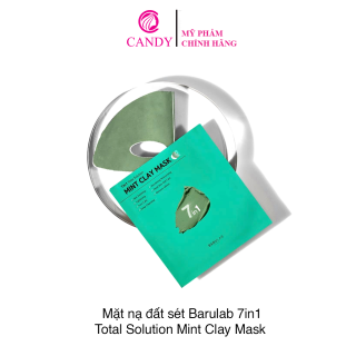 Mặt Nạ Barulab 7 In 1 Total Solution Mint Clay Mask ( Hộp Xanh 5 miếng) thumbnail