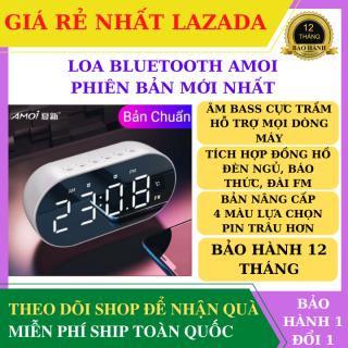 [ Bảo Hành 12 Tháng ] Loa bluetooth, Loa Bluetooth Không Dây màn hình led kiêm đồng hồ báo thức, làm đèn ngủ, đo nhiệt độ phòng với mặt kính tráng gương, pin trâu hỗ trợ dây AUX và thẻ nhớ thumbnail