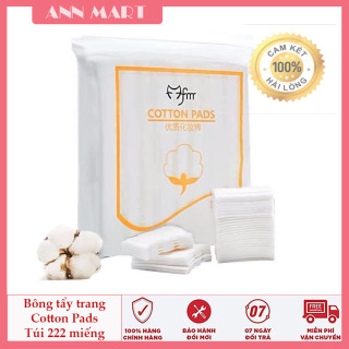 Bông tẩy trang 3 lớp Cotton Pads - tẩy trang, tẩy bụi bẩn, bông dày dặn [Túi 222 miếng dày dặn] thumbnail