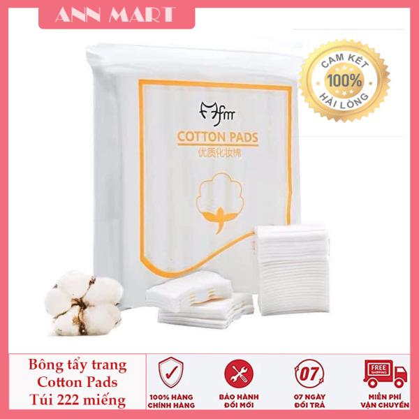 Bông tẩy trang 3 lớp Cotton Pads - tẩy trang, tẩy bụi bẩn, bông dày dặn [Túi 222 miếng dày dặn] cao cấp