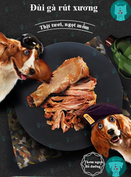 [NGUYÊN CHẤT]Đùi Gà Rút Xương/ Nguyên Xương, Thức Ăn Cho Chó Mèo, Đồ Ăn Vặt Cho Thú Cưng, Chất Lượng - JFamille