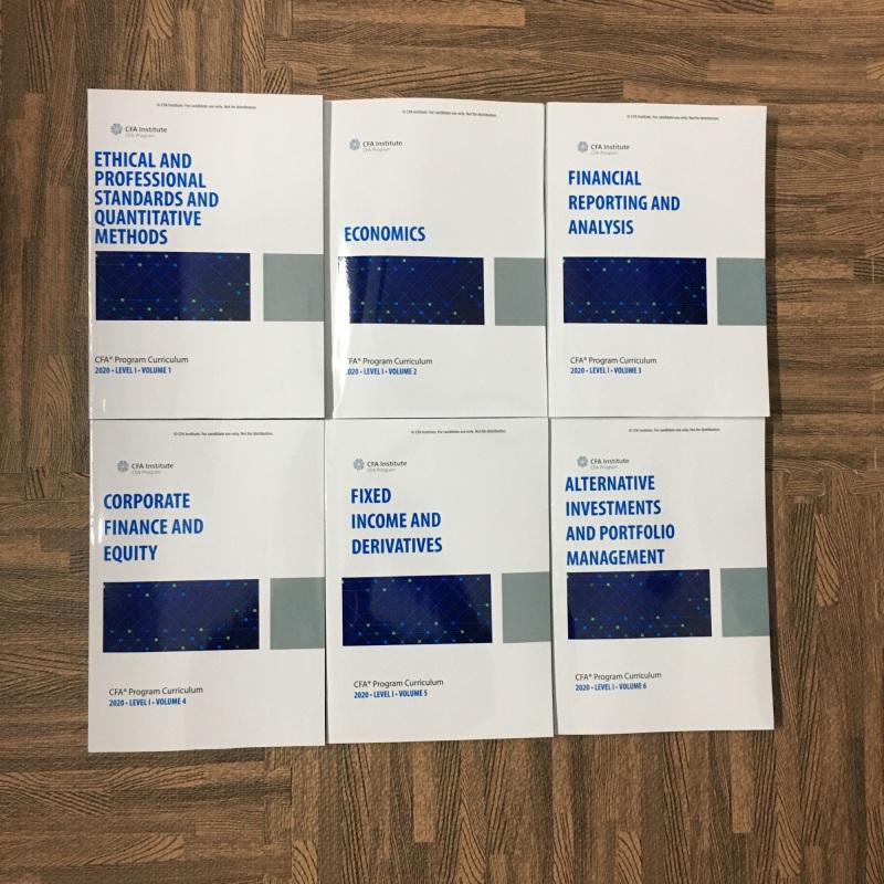 trọn bộ 2020 CFA© Program Curriculum Level 1 Volumes 1-6 ( sách gia công keo gáy)1st Edition