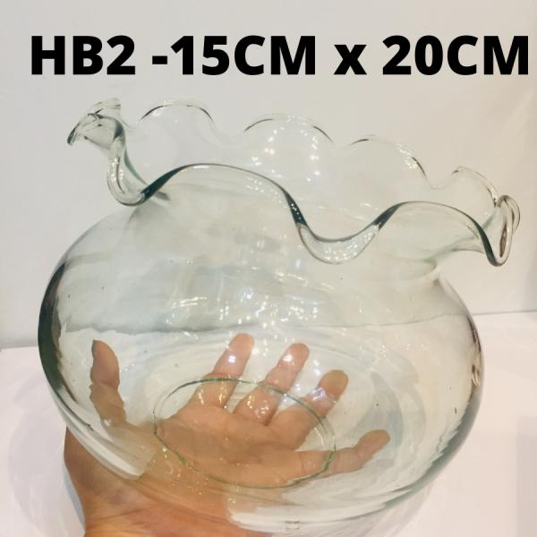 Chậu cây thủy tinh size MEDIUM nhúng bèo hàng HOMEMADE TK-HB2