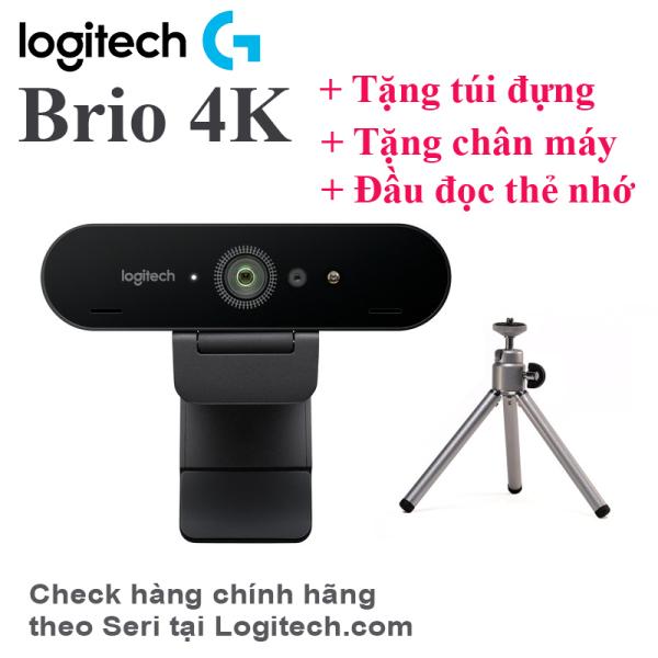 Bảng giá [Trả góp 0%]Webcam Logitech BRIO - 4K Ultra HD, tặng chân máy, đầu đọc thẻ, túi đựng,  chính hãng check seri tại website hãng Phong Vũ