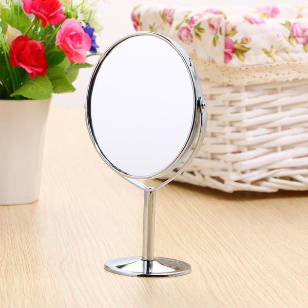 Gương tròn trang điểm 2 mặt gương, có chân tiện lợi