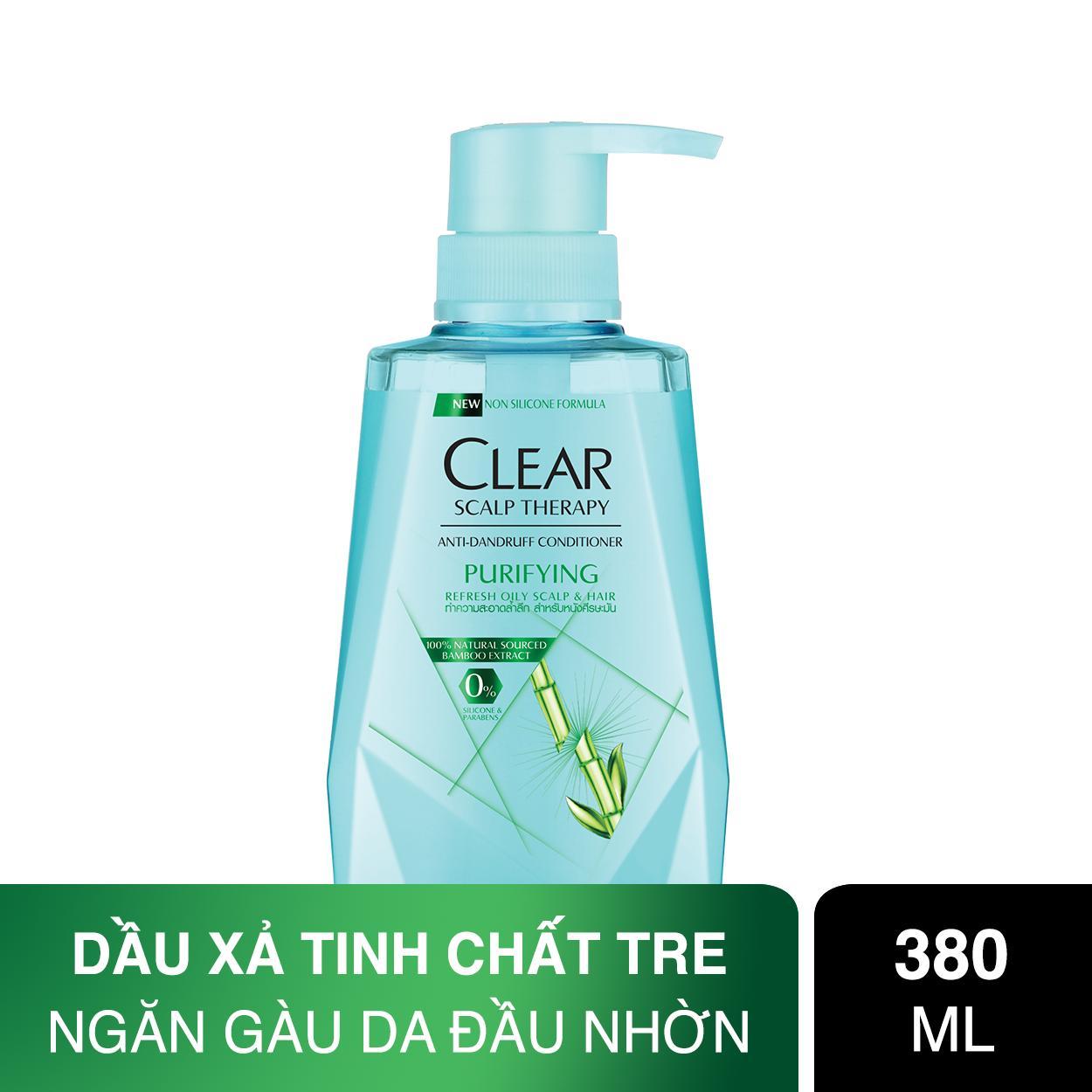 Dầu xả làm sạch da đầu nhờn và ngăn gàu Clear Hair Conditioner Bamboo 380ml cao cấp
