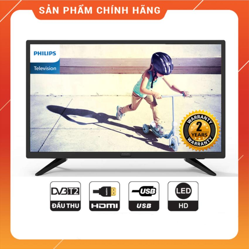 Bảng giá Tivi Led Philips 24 inch HD - Model 24PHT4003S/74 (Đen) Tích hợp DVB-T2