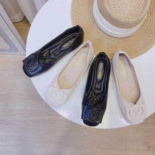 Giày búp bê nữ da mềm phối khóa cực thời trang giá rẻ
