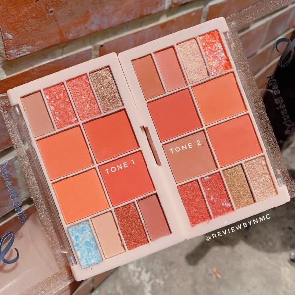 Phấn mắt Luxurious Velvet Touch 12 ô,bảng 8 ô màu mắt có nhủ & 4 ô má hồng