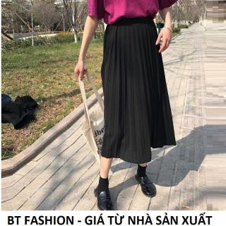 Váy Xòe Dập Ly Thời Trang BT Fashion (DÀI - Dập Ly) - VA04 - Có váy lót bên trong thumbnail