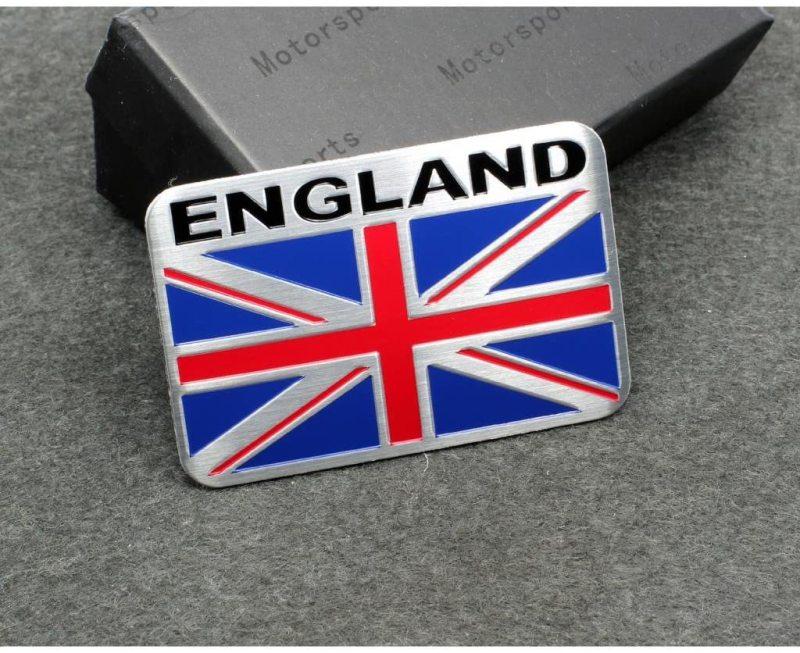 Tem Cờ Nước Anh Bằng Nhôm Có Keo Dán - Hình chữ nhật