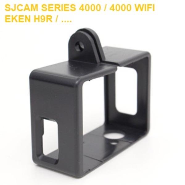 Giá Phụ kiện camera hành trình - Frame cho sjcam Series 4000 / Xiaomi YI / Eken H9R - Đen