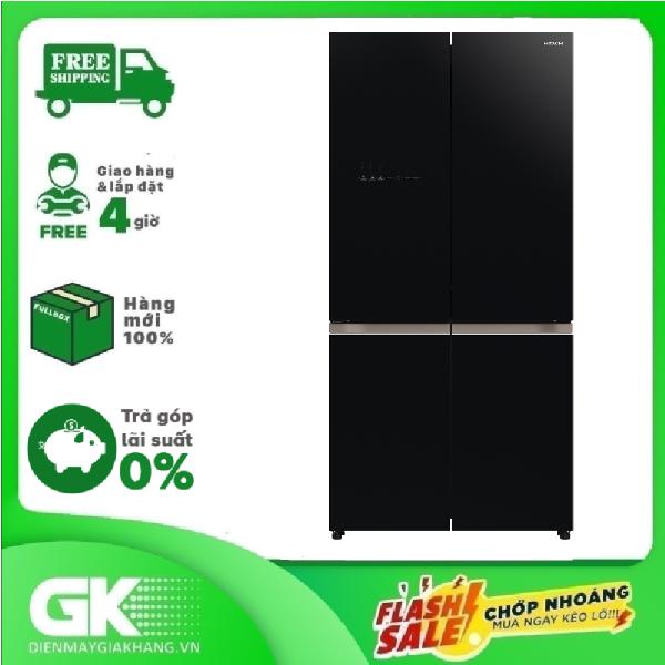 TRẢ GÓP 0% - Tủ lạnh Hitachi Inverter 569 lít R-WB640VGV0 (GBK)