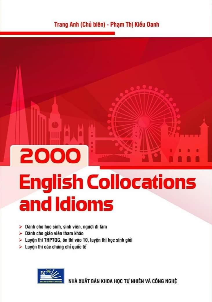 Voucher tại Lazada cho SÁCH 2000 ENGLISH COLLOCATIONS AND IDIOMS - Cô Trang Anh