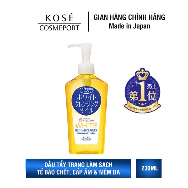 Dầu Tẩy Trang Làm Sạch Tế Bào Chết Kosé Cosmeport Softymo White Cleansing Oil 230ml
