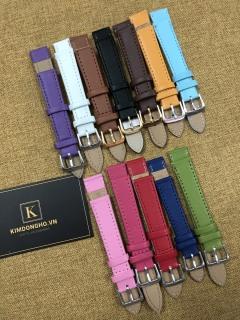 Dây may rời các màu thay dây da đồng hồ đầu 12-20 ( Tặng chốt và dụng cụ thay dây) thumbnail