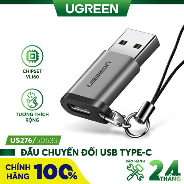 Bảng giá Đầu chuyển đổi USB type C cổng cái sang USB 3.0 cổng đực UGREEN US204 US276 Phong Vũ