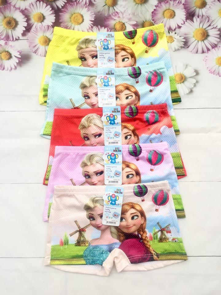 Giá bán Combo 5 Quần Chíp Đùi Thông Hơi Elsa & Anna Cho Bé Gái 9-26kg (5 màu)