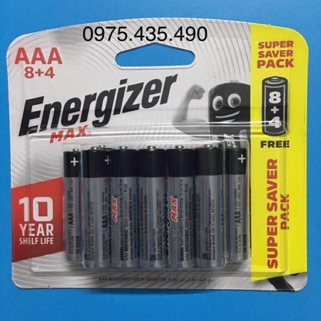 Pin AAA Energizer Max Alkaline Vỉ 12 viên - Hàng Chính Hãng