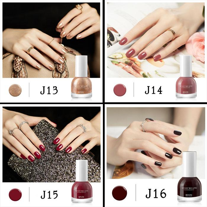 Sơn móng tay (sơn lột) mau khô, mùi thơm Maycreate 10ml mã J13-J16 tốt nhất