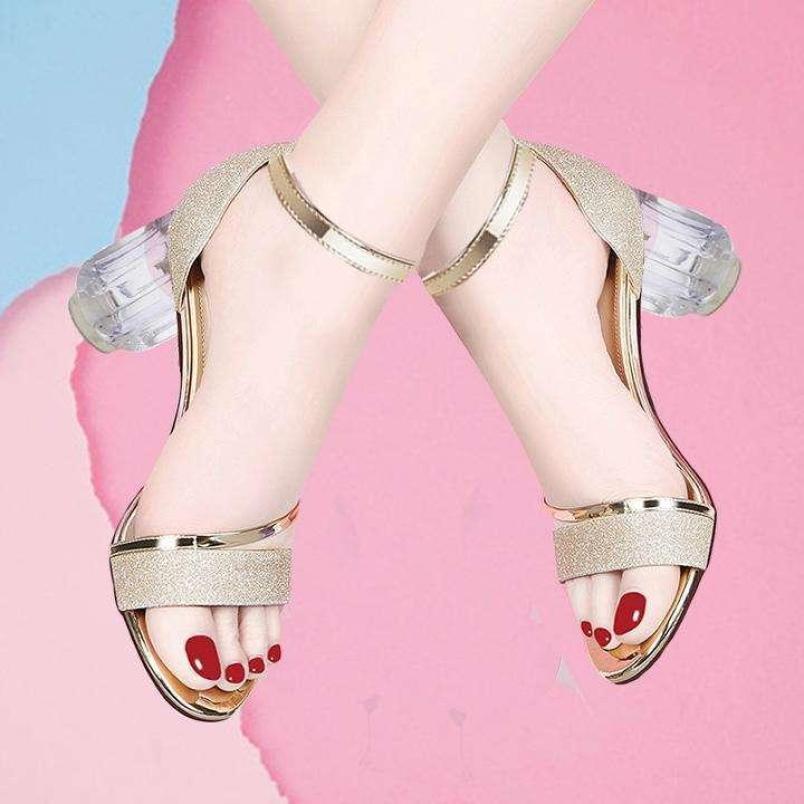 Giày SD Kim Tuyến Gót Trong 7P - CG-0317, Chất Liệu Tốt Êm Chân Chắc Chắn, Kiểu Dáng Trẻ Trung Hiện Đại giá rẻ