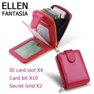 ELLEN Fantasia Da chính hãng Tín dụng nam Bao đựng thẻ ID Chủ sở hữu Bảo mật Ví du lịch Ví bỏ túi phía trước cho Nam và Nữ Bao da bằng lái xe cho nữ có dung lượng lớn đa chức năng thumbnail