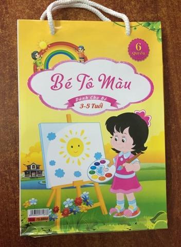 Mua Túi tô màu cho bé 3 - 5 tuổi (gồm 6 quyển)