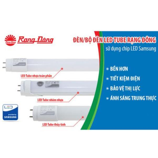 Bóng Đèn LED Tube (Tuýp) 18W dài 1,2m Rạng Đông Cao Cấp, ChipLED Samsung