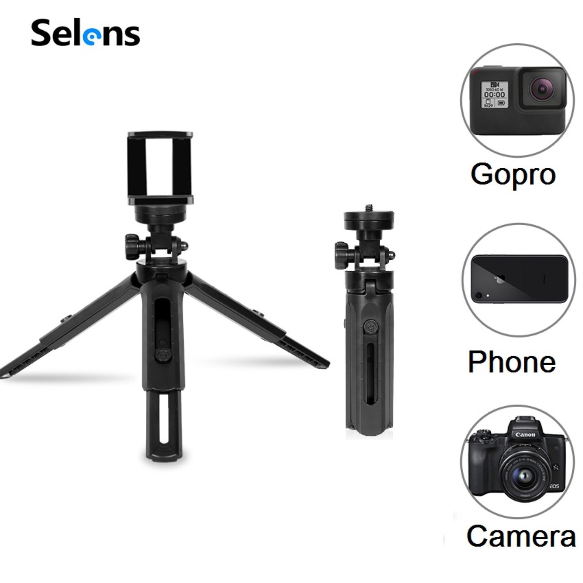 Mã Khuyến Mại tại Lazada cho Selens Chân Máy Mini Gấp Gọn PortableTable Đứng Cầm Ổn Định Cho Máy Ảnh Kỹ Thuật Gimble Stabilizer Số DSLR Máy Vlog Selfie Video Kẹp Điện Thoại Cho Chân Máy Ảnh Điện Thoại Di Động Đèn Led