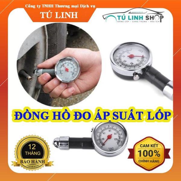 Đồng hồ đo áp suất lốp + Tặng 01 khăn lau xe chuyên dụng