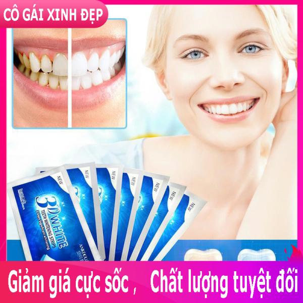 Miếng dán trắng răng, dưỡng trắng răng hiệu quả nhanh chóng 1 hộp 7 miếng HÀNG CHẤT LƯỢNG CAO