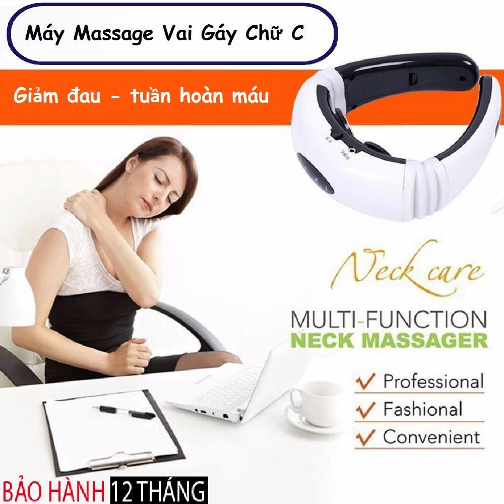 Máy massage vai gáy, Máy massage bụng có hiệu quả không, Máy Massage Gáy Chữ C Với 3 Chế Độ Massage Tự Động Giảm Đau Nhanh, Sử Dụng Nguồn Pin 3A Dễ Dàng Thay Thế