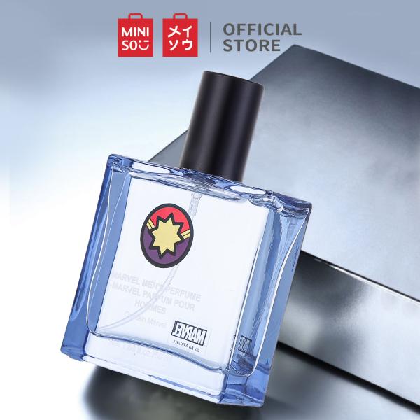 Nước hoa nam mùi hương mạnh mẽ và lịch lãm thơm lâu dạng xịt kiểu dáng nhỏ gọn Miniso Marvel 50ml