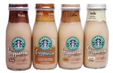 Ôn Tập Trên Lốc 4 Chai Cafe Starbucks Frappuccino Mocha Light Pha Sẵn 281Ml