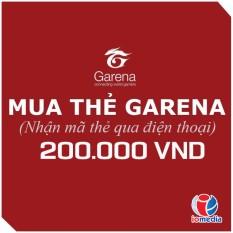 Coupon Khuyến Mại Mã Thẻ Game Garena 200.000 - Nhận Mã Qua SMS - Siêu Nhanh