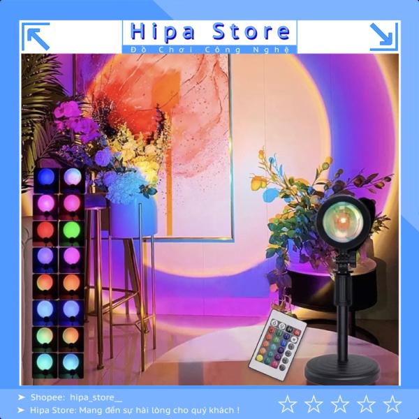 Bảng giá Đèn hoàng hôn 4 màu, 16 màu RGB có điều khiển, đèn quay tiktok, chụp ảnh sống ảo, ánh cầu vồng ảo diệu | Hipa Store