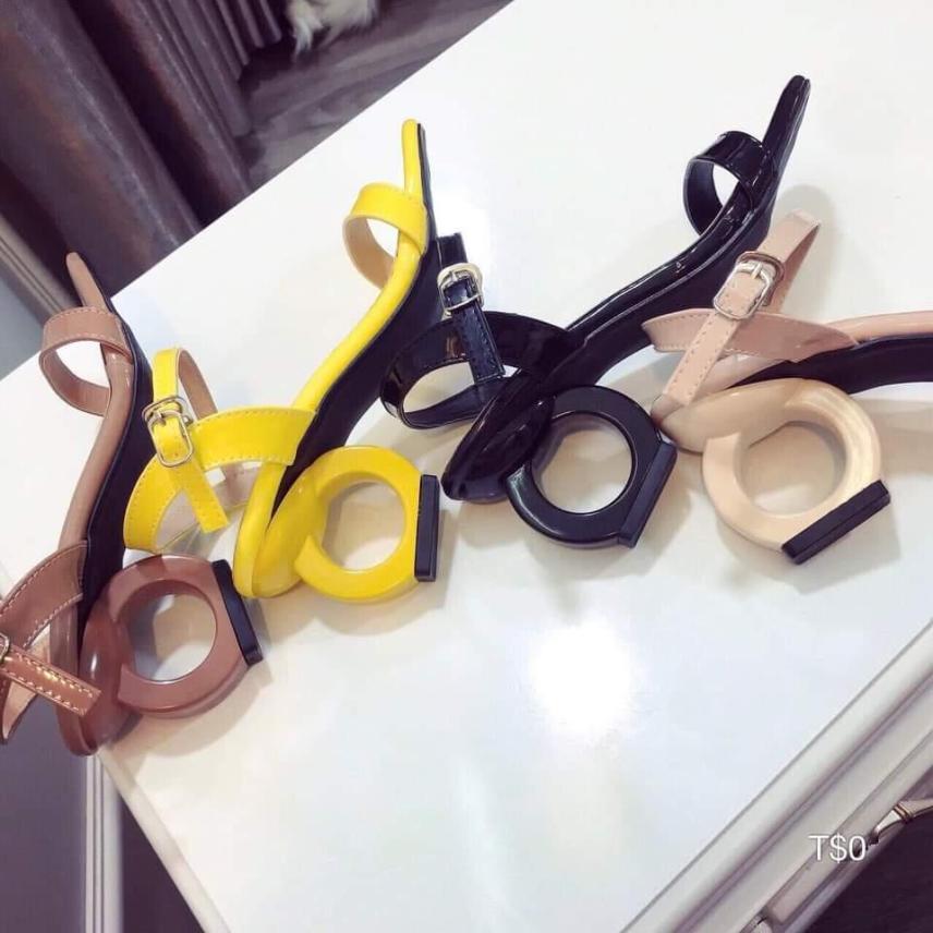 (Miễn ship) Giày nữ, giày cao gót nữ 5 phân, giày sandal cao gót mẫu mới PinkShopGiayDep giá rẻ