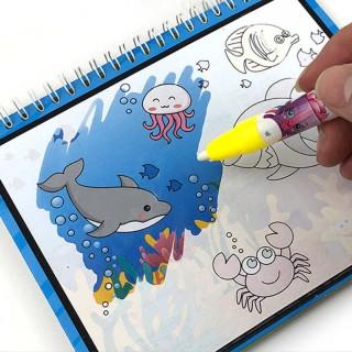 [Giá hủy diệt](Tặng Bút) Sách tô màu luyện chữ ma thuật sử dụng nước và dùng nhiều lần, sách tập tô, tập vẽ, sách thần kỳ phù hợp trẻ mần non từ 2-6 tuổi thumbnail