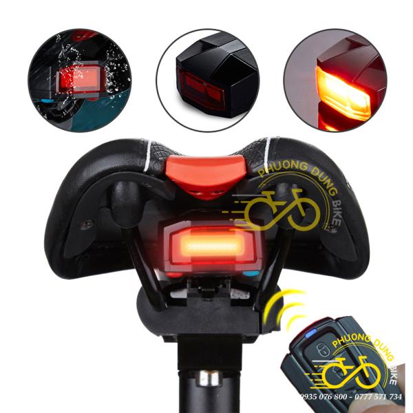 Đèn sau xe đạp kèm còi, kèm chống trộm 3 in 1 ANTUSI A6 có điều khiển