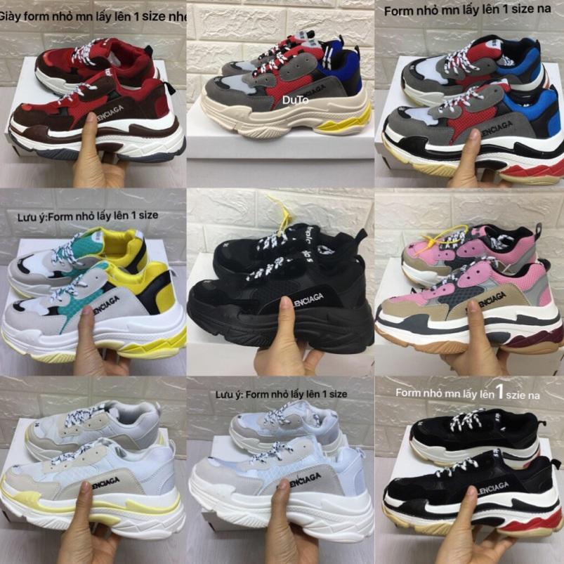 [TẶNG HỘP+TẤT] Giày thể thao trip S đủ màu size NAM NỮ giá rẻ