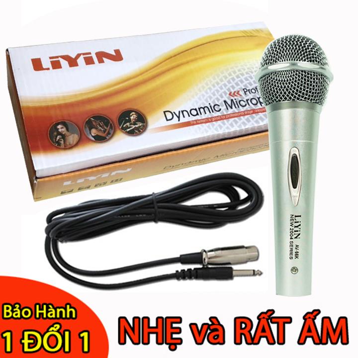 [MIỄN PHÍ VẬN CHUYỂN] Micro karaoke Liyin màu bạc dành cho các loa karaoke và amply, thiết kế đẹp, hát nhẹ và hay - BẢO HÀNH 1 ĐỔI 1 NẾU LỖI