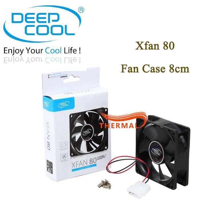 Quạt Fan case 8cm DeepCool xFan 80 [ThermalVN] - Quay êm, Bền bỉ theo thời gian